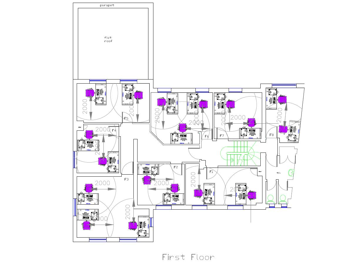 Covid19 compliant floor plans